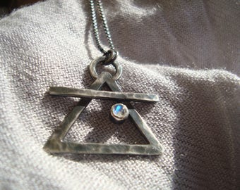 Air Element Alchemy Necklace (Moonstone)