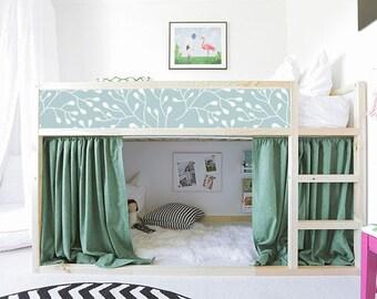 IKEA KURA BED Removable Stickers Branch | Ikea Nursery Decals | Furniture  Stickers | Furniture Decals