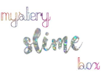 Slime Mystery Box with Free Shipping. Cloud slime, fishbowl slime, butter slime, and more!