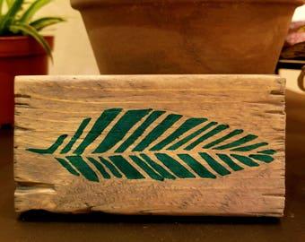 Hand Painted Wood Shelf Decor