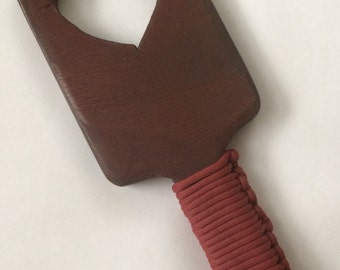 Handmade wooden paddle BDSM - Hairbrush style