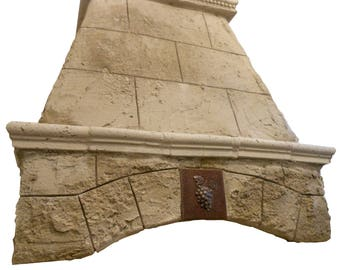 """Cast Stone Kitchen Vent Hood/Range Hood 30"""" w x 30"""" h (fits 8-foot ceiling) Kitchen Exhaust TUSCANY"""