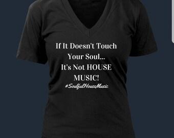 Soulful House Music Women's V-Neck