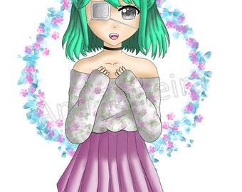 Digital drawing anime manga illustration poster download