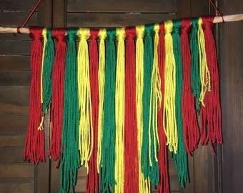 yarn hanging
