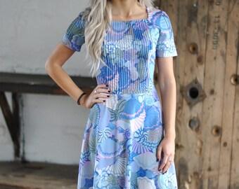 Vintage 60's pastel shell dress