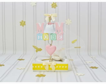 Mom to be bomboniere, mommy baby bump, new mom to be, ornaments, pregnant, baby shower, favors, gifts, baby girl, baby boy, new favor idea