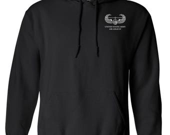 US Army Air Assault Embroidered Hooded Sweatshirt-7254