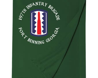 197th Infantry Brigade Embroidered Blanket-7194