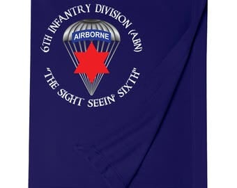 6th Infantry Division (Airborne) Embroidered Blanket-7537