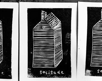 Solitude Lino Print