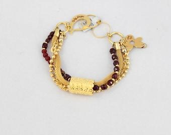 Handmade bracelet, Ruby stone