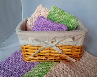 Crocheted lightly scented Cotton Washcloths