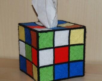 Rubix cube Kleenex box holder