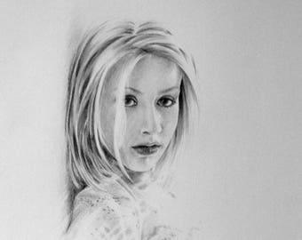 Christina Aguilera - Portrait in pencil - 001