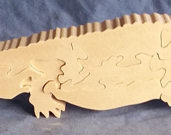 Wooden Alligator Puzzle