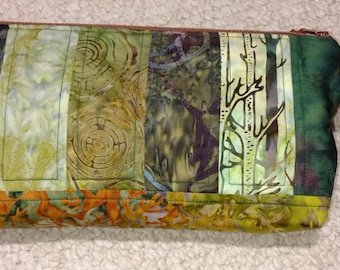 Hand Dyed Batik Clutch Purse Handbag
