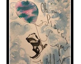 Skunk watercolor