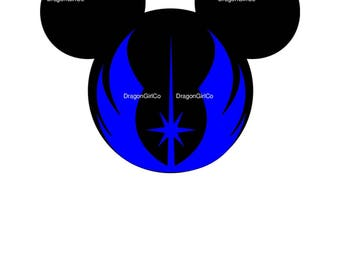 Mickey Head with First Order Symbol SVG File