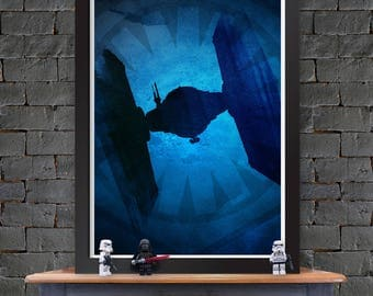 Tie Fighter SF – Star Wars X-Wing Poster Lustre Print