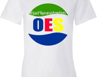 White OES Women's fit tee