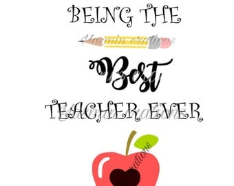 Thank you for being the best teacher ever Svg font , svg cricut file