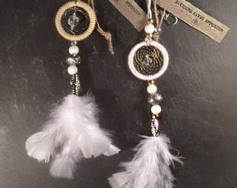 Angel dream catcher keychain charms