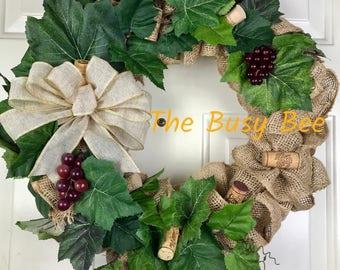 Wine Lover's wreath