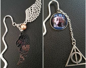 Harry Potter bookmarks: Golden snitch or cabochon Dobby