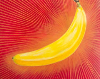 Holy Banana / Acrylic Painting / Art Print