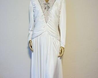 Vintage white beaded fancy dress