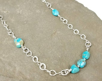 Kingsman Turquoise, Sterling Silver Necklace