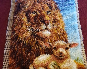 Lion and Lamb Rug/Wall Hanging