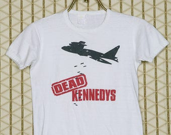 Dead Kennedys vintage rare T-shirt, white tee shirt, Jello Biafra, hardcore punk, punk rock, soft thin, 1980s