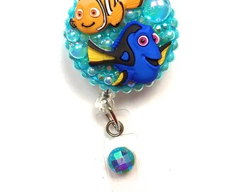 Retractable Badge Reel - Nemo and Dory