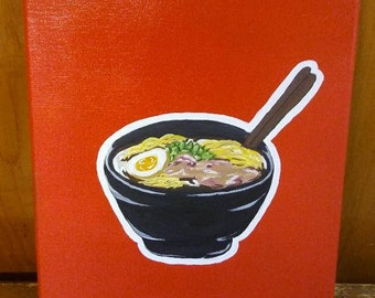 Who Wants Pho? 1 of 1  11x14 Acrylic Paint on Canvas