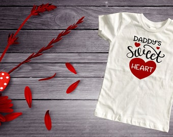 Daddy's sweetheart valentine top