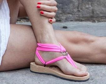 Mystic Gladiator Sandal - Resort Chic - Design Your Own - Natural Flat Sole