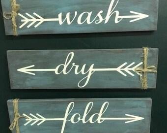 Rustic wash dry fold