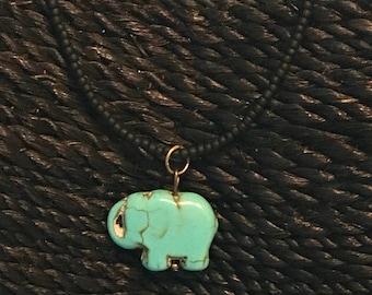 Solo Elephant Beaded Necklace