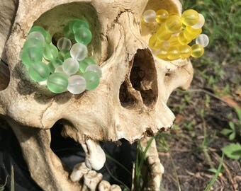 2 colors glass bead bracelets