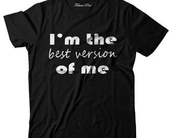 Women's black t-shirt with inspirational quote (Best Version)