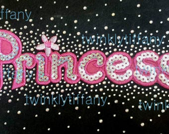 Princess iron on high quality  sequins / embroidered