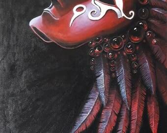 Indian God mask