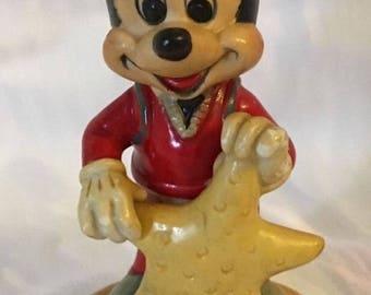 Walt Disney Productions Mickey Mouse Starfish Figurine Vintage Scuba Diver
