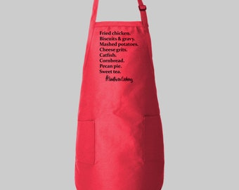 Southern cooking apron witty kitchen phrases