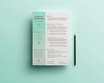 Resume Template | Professional Resume | CV Template | Resume | Modern Resume | Creative Resume | Resume Design | Instant Download | CV