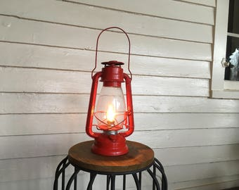 Beautiful Vintage 1950's Repurposed Electric Oil Lamp.  With electric 25 watt bulb and dimmer switch.  Perfect Accent Lamp!