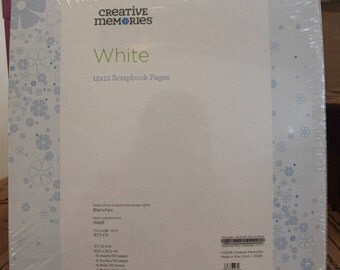 Creative Memories True 12x12 White Pages