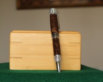 Musician Pen, Chrome, Walnut Wood